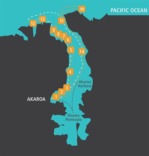 Akaroa Dolphins Crusie Route