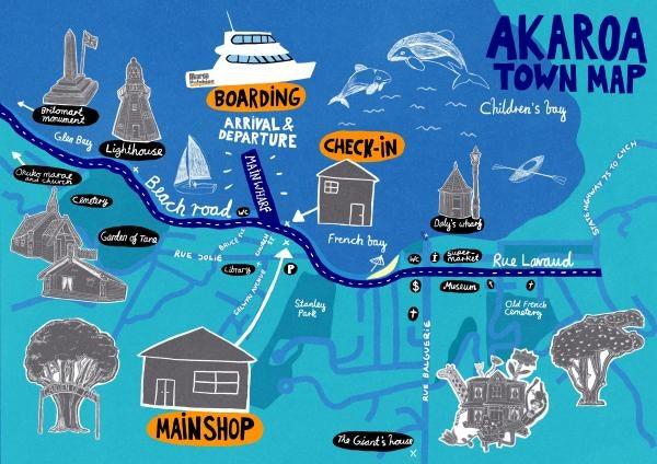 Akaroa Town Map